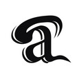 leter a logo with bold shapes and luxury icon vector image vector image