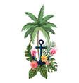 marine anchor cartoon vector image vector image