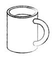 monochrome blurred silhouette of mug icon vector image vector image