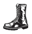 Monochrome of military boot