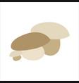 mushroom flat icon logo image flat design vector image