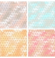 Old lace background set of 4 seamless pattern vector image