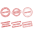 Passed stamps vector image