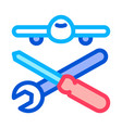 plane instruments icon outline vector image vector image
