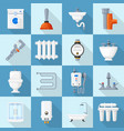 plumbing cartoon set vector image vector image
