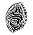 polynesian ethnic style tattoo vector image vector image
