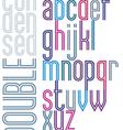 Poster retro double striped font bright condensed vector image vector image