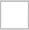 rectangular square photo frame newspaper vector image