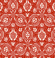 Red lace Seamless abstract floral pattern vector image vector image