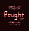 rought font alphabet vector image