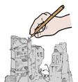 ruins draw vector image