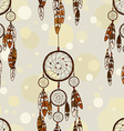 Seamless pattern of American Indians dreamcatcher vector image vector image