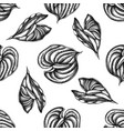 seamless pattern with black and white anthurium vector image