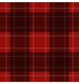 seamless red tartan with stripes vector image