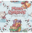 seamless texture new year and christmas vector image vector image