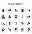 set of 20 editable teach icons includes symbols vector image
