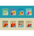 Set of graphs for repots oe presentation vector image