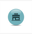 shop icon on a blue round button vector image vector image