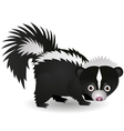 skunk cartoon vector image vector image