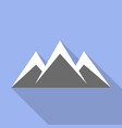 sky mountain icon flat style vector image
