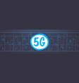 smart city 5g online communication network vector image