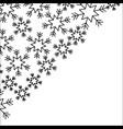 snowflakes in the corner paper design winter vector image