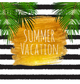 summer vacation natural background vector image vector image