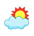 sun and cloud weather icon vector image vector image