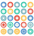 sun icons set on color circles white background vector image
