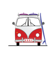 surf vehicle with surfboard icon in colorful vector image vector image