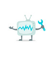 televisor character with face legs and hands vector image vector image