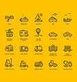 transportation icons side view part ii vector image