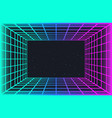 vaporwave retro futuristic background abstract vector image