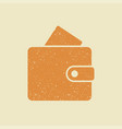 wallet icon in flat style vector image vector image
