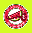 watermelon juice label vector image vector image