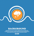 Weather icon sign Blue and white abstract vector image