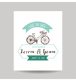 Wedding Invitation Card - Save the Date - Bicycle vector image vector image