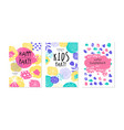 welcome kids party card templates set happy vector image vector image