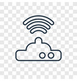 wifi modem concept linear icon isolated on vector image