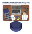 workplace clothes designer vector image vector image