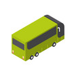 tourist bus icon isometric isolated tourism and vector image