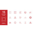 15 symbol icons vector image vector image