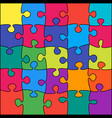 25 colorful background puzzle jigsaw puzzle banner vector image