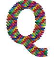 3d font letter Q vector image vector image