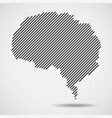 abstract brain of line vector image