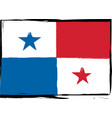 abstract panama flag or banner vector image vector image