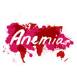 anemia hand drawn lettering vector image vector image