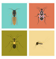 assembly flat insect wasp soldier bug ant mosquito vector image vector image