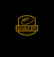 bakery logo pastry logo vector image vector image