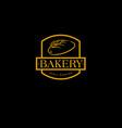 bakery logo pastry logo vector image vector image